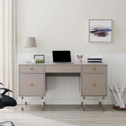 SEI Furniture Helston Retro Mid-century Modern Writing Desk