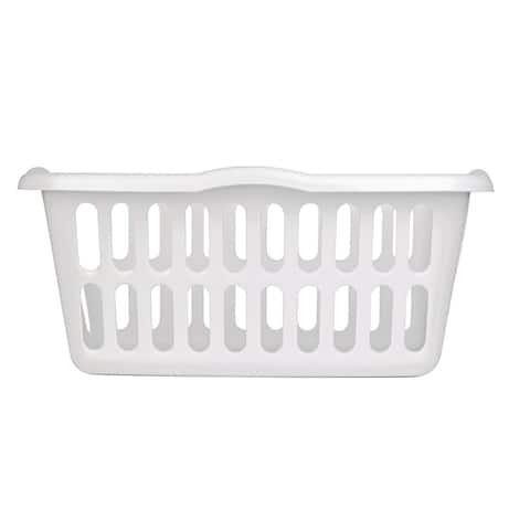 Sterilite 12458012 Laundry Basket, White