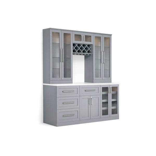 Shop Newage Products Home Bar 72 W X 25 D 7 Pc Shaker Style Free