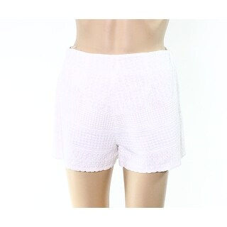 Free People NEW White Ivory Womens Size 4 Embroidered Casual Shorts