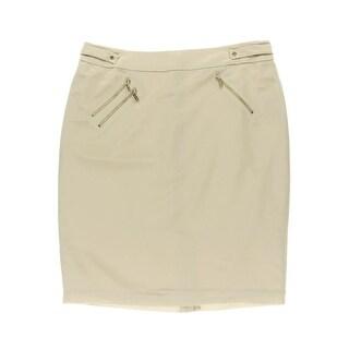 Calvin Klein Womens Slit Zipper Pencil Skirt