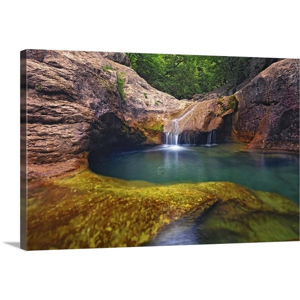 """Stream with clean transparent water, Ukraine"" Canvas Wall Art"