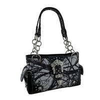 Camo Craze Colorful Camouflage Print Rhinestone Buckle Conceal Carry Handbag