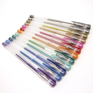 Polaroid Colorful Metallic Gel Pens For 2x3 Photo Paper Pojects (Snap, Zip, Z2300) - Pack of 12