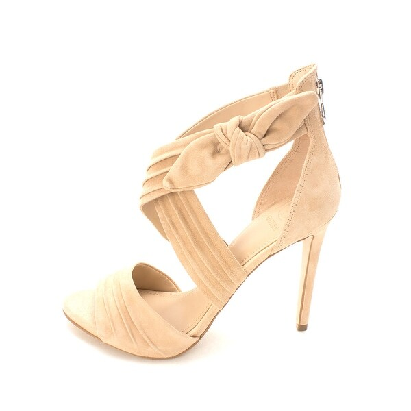GUESS Womens Azali2 Leather Open Toe D-orsay Pumps