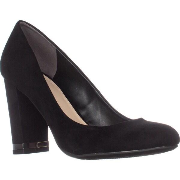 B35 Selena Block-Heel Pumps, Black - 6.5 us