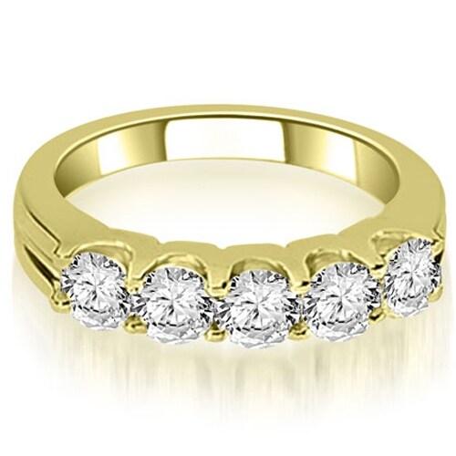 1.00 cttw. 14K Yellow Gold Round Cut Diamond Wedding Band