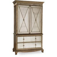 Hooker Furniture 3016-90013 52 Inch Wide Armoire From the Sanctuary Collection - bling distressed gold - N/A