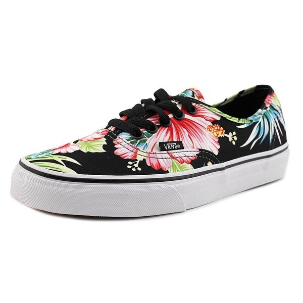 945002e029c3e3 Shop Vans Authentic Hawaiian Floral Black Sneakers Shoes - Free ...