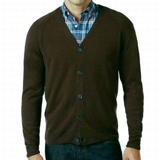 Weatherproof NEW Brown Mens Size Large L Button Down Cardigan Sweater