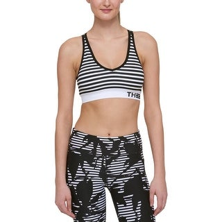 Tommy Hilfiger Womens Sports Bra Signature Striped