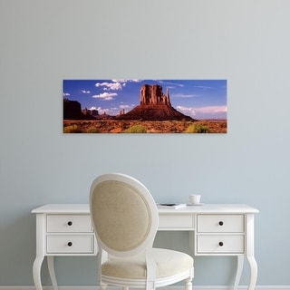 Easy Art Prints Panoramic Image 'Rocks, The Mittens, Monument Valley Tribal Park, Monument Valley, Utah' Canvas Art