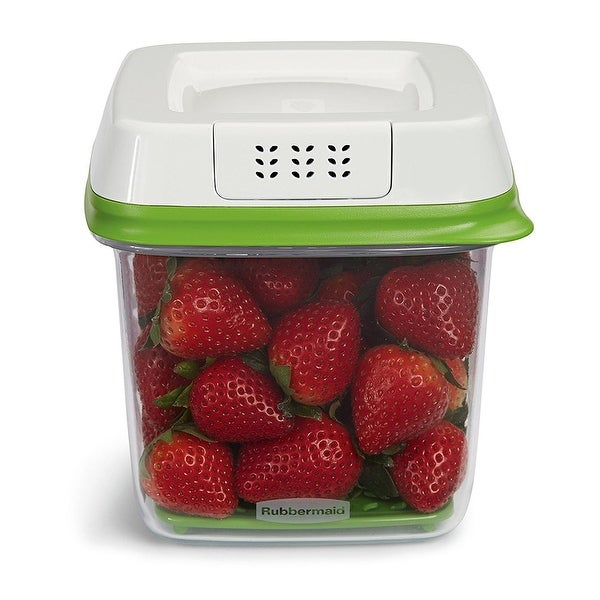 Rubbermaid FreshWorks Produce Saver Food Storage Container, Medium, 6.3 Cups - Green