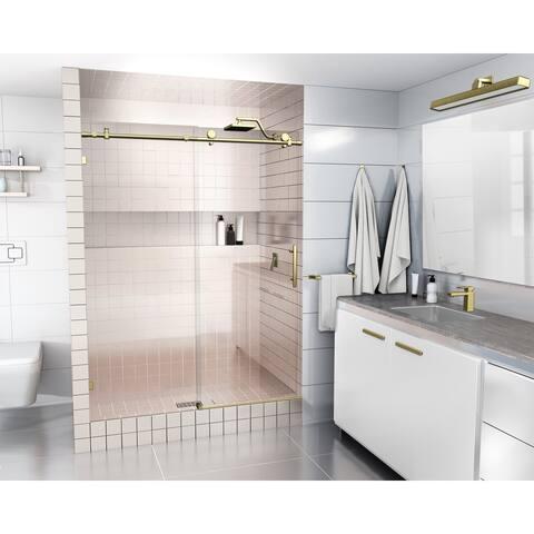 Glass Warehouse 56 in. - 60 in. x 78 in. Frameless Sliding Shower Door