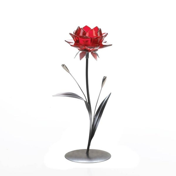 Top Sale Single Red Flower Candle Holder