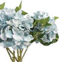 "G Home Collection Luxury Silk Hydrangea Stem in Light Blue 18"" Tall"