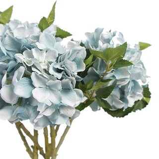 "G Home Collection Luxury Silk Hydrangea Stem in Light Blue 18"" Tall"