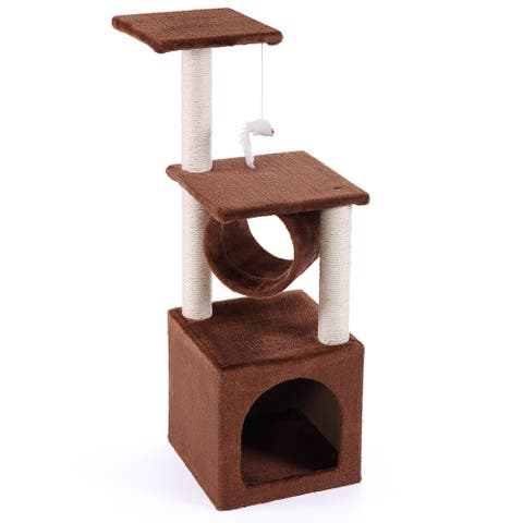 """36"""" Cat Tree Condo Furniture House Tunnel Scratcher Pet Play Toy"""
