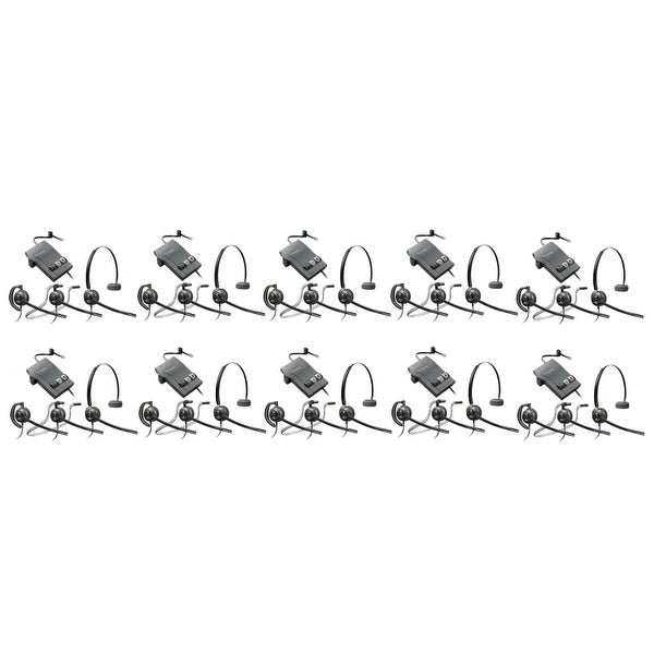 Plantronics EncorePro HW540 with M22 (10-Pack) 3-in-1 Mono Corded Headset