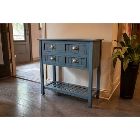Bailey Bead board 4-drawer Console Table