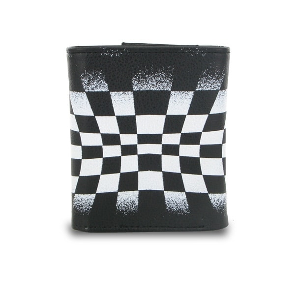 Trifold Black and White Checkerboard Bi-Fold Wallet