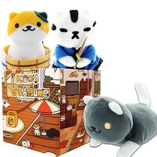 Neko Atsume Mystery Gift Box Bundle with 3 Plushies - multi