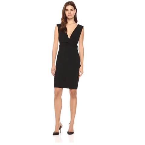 bebe Womens Little Black Dress With Plunging Deep V Neckline