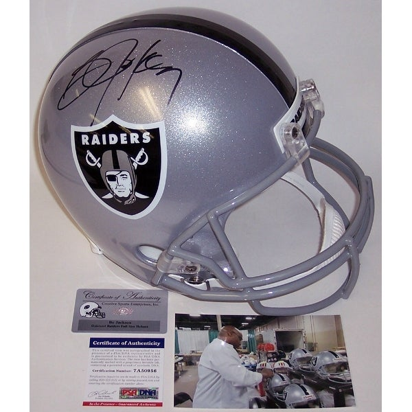 sports shoes 7a924 62f54 Bo Jackson Autographed Hand Signed Los Angeles Raiders Full Size Helmet -  PSA/DNA
