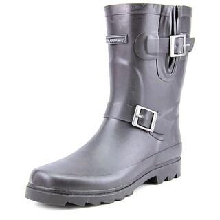 Bearpaw Charlie Women Round Toe Synthetic Black Rain Boot