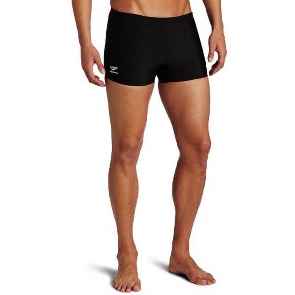 baf6b562b5 Speedo Men's Endurance+ Polyester Solid Square Leg Swimsuit, ...