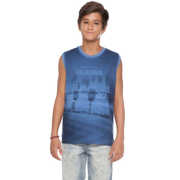 Tween Boy Graphic Tank Top Kids Summer Muscle Shirt Pulla Bulla 10-16 Years