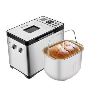 Costway Automatic Stainless Steel Bread Maker 2Lb Programmable Bread Machine Silver New