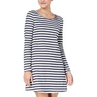 BCX Womens Juniors Casual Dress Mini Striped