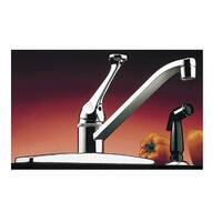 LDR 013 1405CP Single Handle Kitchen Faucet With Spray, Chrome