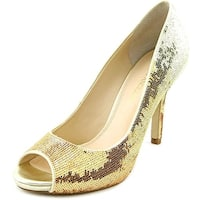 Enzo Angiolini Womens MAIVEN Leather Peep Toe Classic Pumps