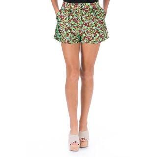 Elizabeth and James Womens Jody Casual Shorts Jacquard Floral Print