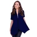 Simply Ravishing Women's Basic Short Sleeve Open Cardigan (Size: Small-5X) - Thumbnail 7