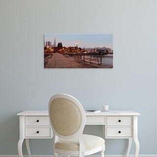 Easy Art Prints Alan Blaustein's 'Broadway Pier Pano #113' Premium Canvas Art