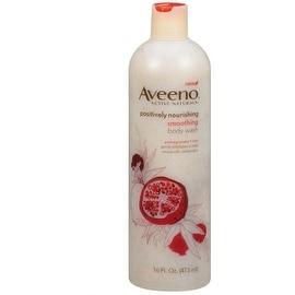 Aveeno Active Naturals Body Wash Smoothing Pomegranate Rice