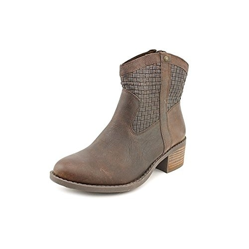 Me Too Womens Samara4 Leather Round Toe Mid-Calf Cowboy Boots