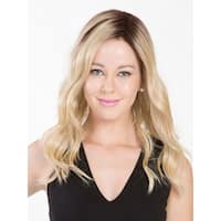Maxwella 18 in Mono Top Hair Piece by Belle Tress - HF Synthetic, Monofilament Top, Lace Front