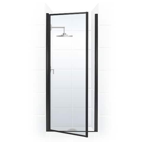 "Coastal Shower Doors L23.66-C Legend Series 23"" x 64"" Framed Hinge Shower Door with Clear Glass"