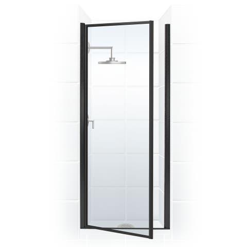 "Coastal Shower Doors L26.66-C Legend Series 26"" x 64"" Framed Hinge Shower Door with Clear Glass"