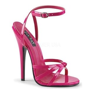 Devious Women's Domina 108 Ankle-Strap Sandal Hot Pink Patent