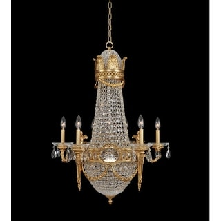 "Allegri 20450 Marseille 12 Light 27"" Wide Empire Chandelier with Crystal Accents - Gold"
