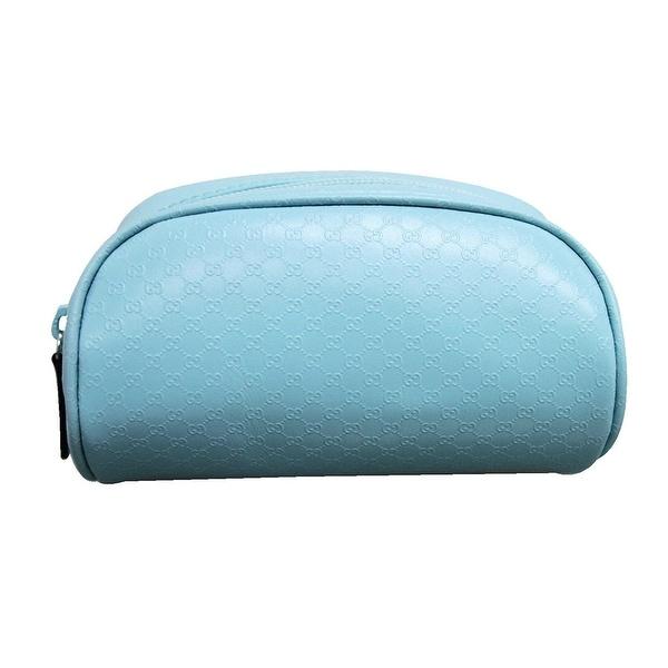 288c12700341bf Shop Gucci Women's Blue PVC GG Cosmetic Bag 277652 3901 - One size ...