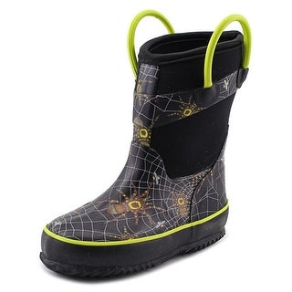 Western Chief Spider Prey Neoprene Toddler Round Toe Synthetic Black Rain Boot
