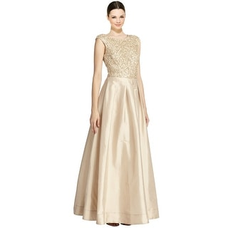 Aidan Mattox Beaded Top Taffeta Evening Ball Gown Dress - 6