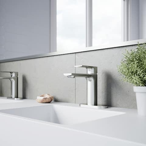 VIGO Davidson Single Hole Bathroom Faucet with Deck Plate