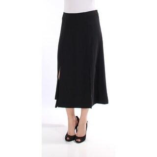 RALPH LAUREN $135 Womens New 1414 Black Slitted Maxi A-Line Casual Skirt 4 B+B